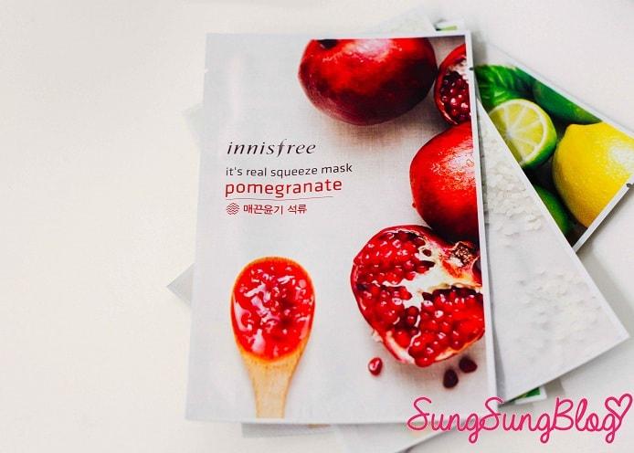 Mask Sheet จาก Innisfree Pomegranate (ทับทิม)