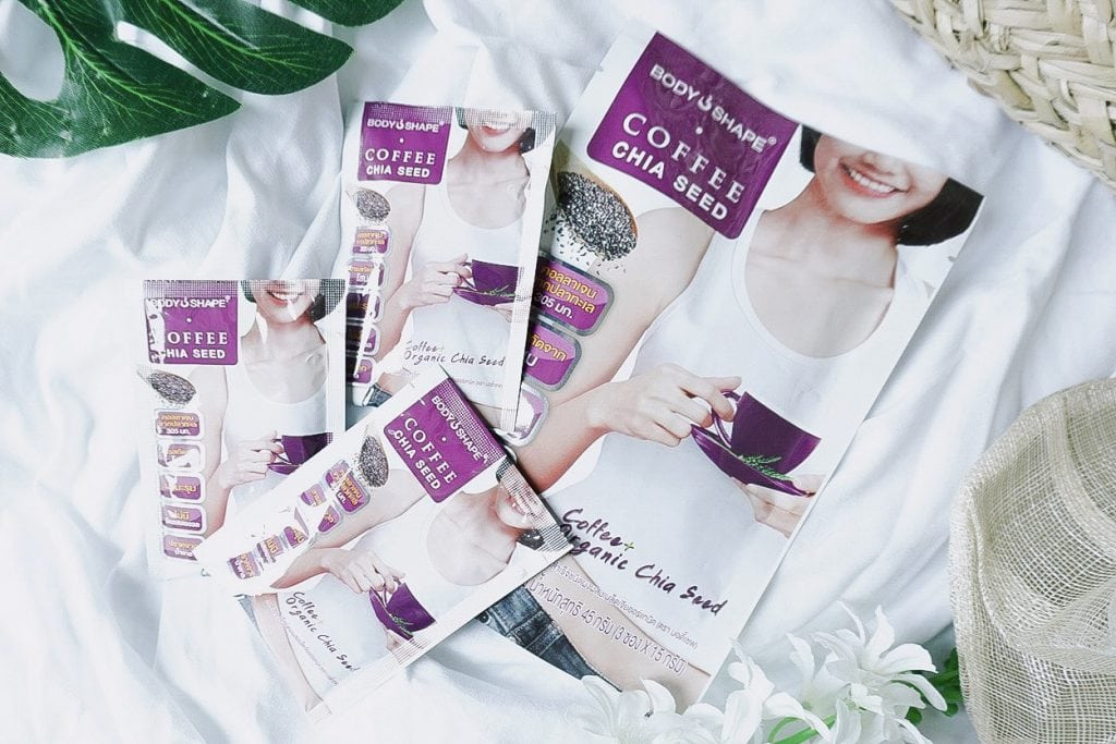 ดื่มกาแฟแบบสุขภาพดีและหุ่นสวย Body Shape coffee Chia Seed